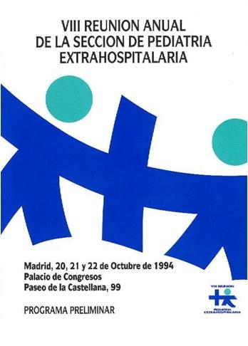 Cartel del VIII Congreso Sepeap Madrid 1994