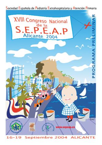 Cartel del XVIII Congreso de la SEPEAP Alicante 2004